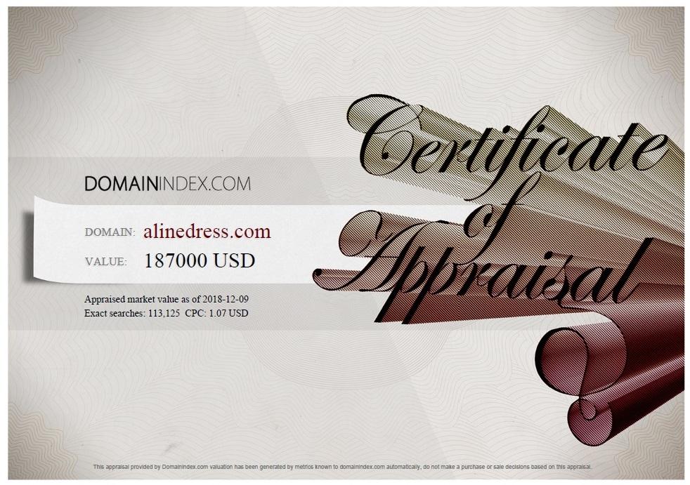 ALineDress.com Appraisal