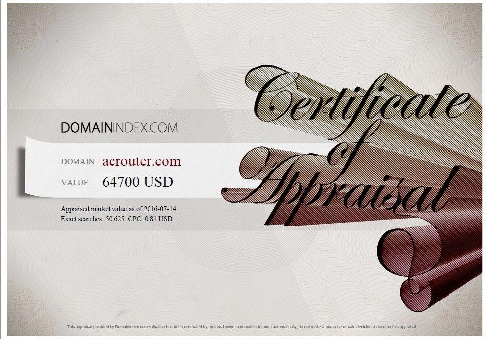 ACRouter.com Appraisal