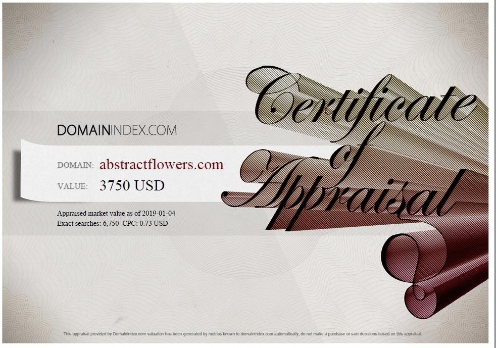 AbstractFlowers.com Appraisal