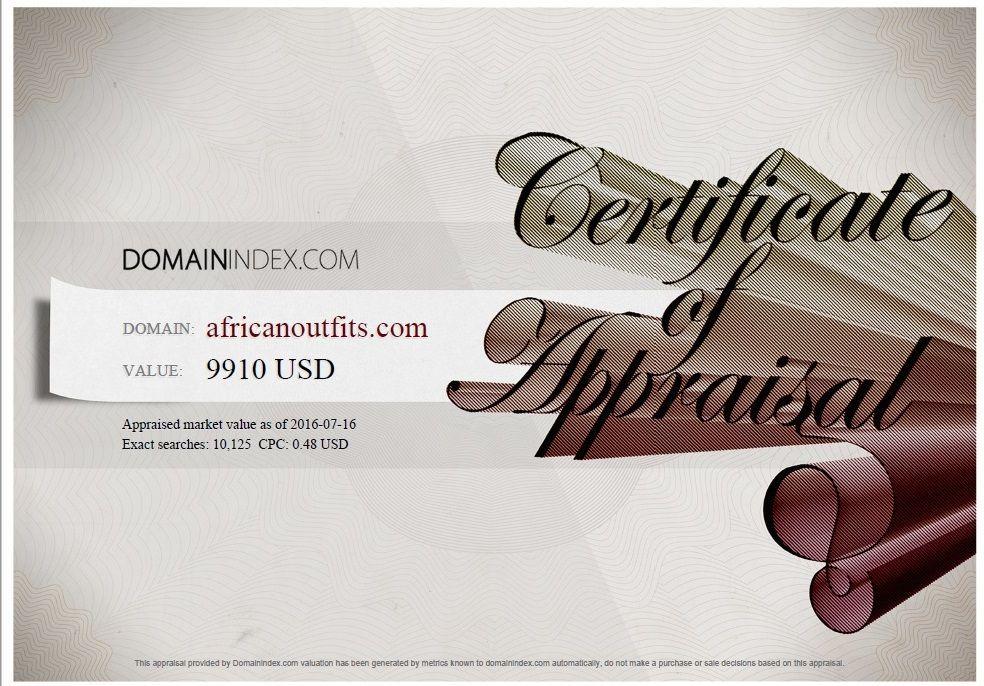 AfricanOutfits.com Appraisal