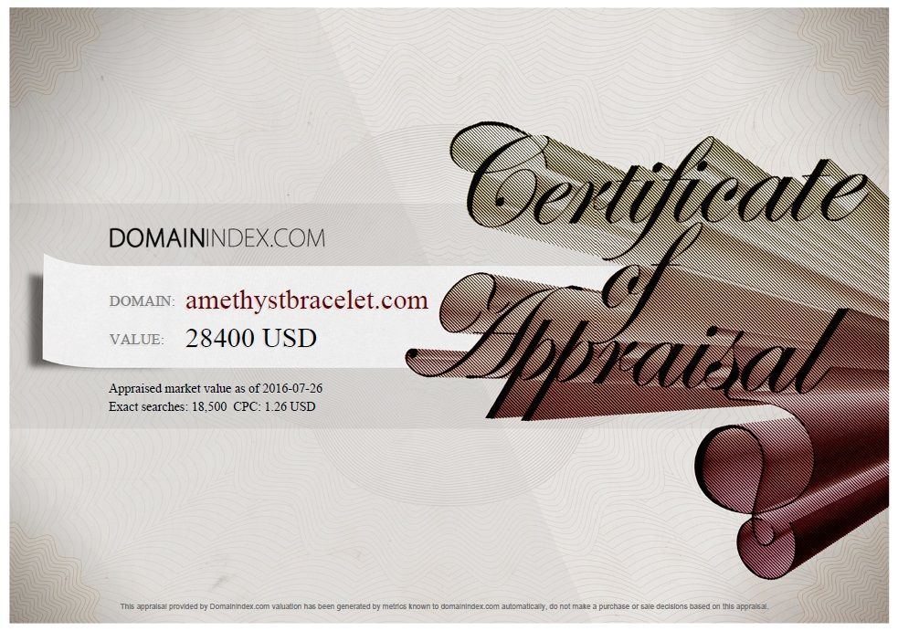 AmethystBracelet.com Appraisal