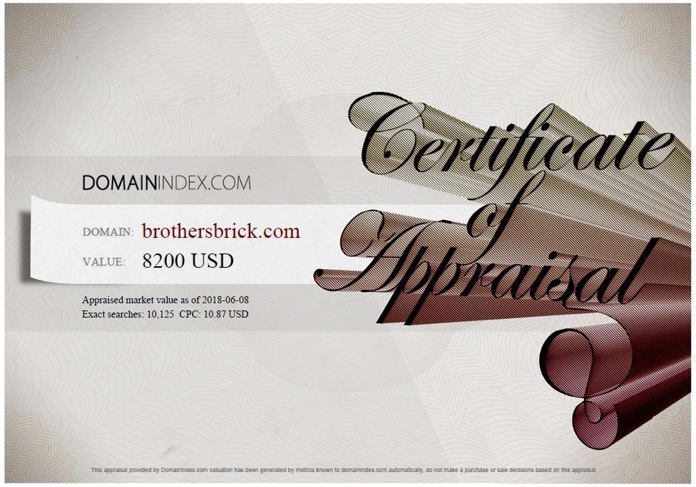BrothersBrick.comlSkeleton.com Appraisal