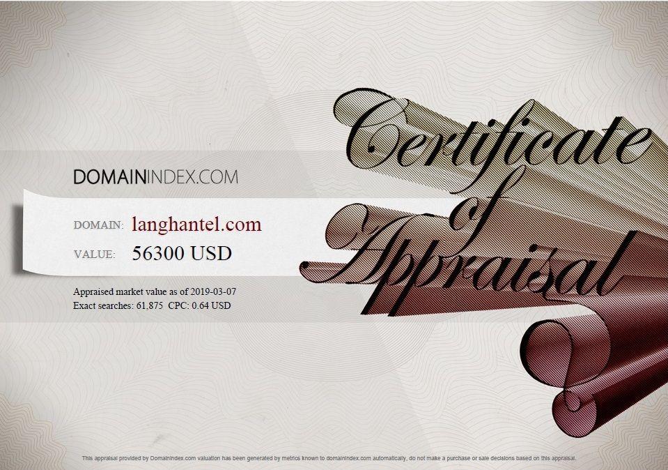 Langhantel.com Appraisal