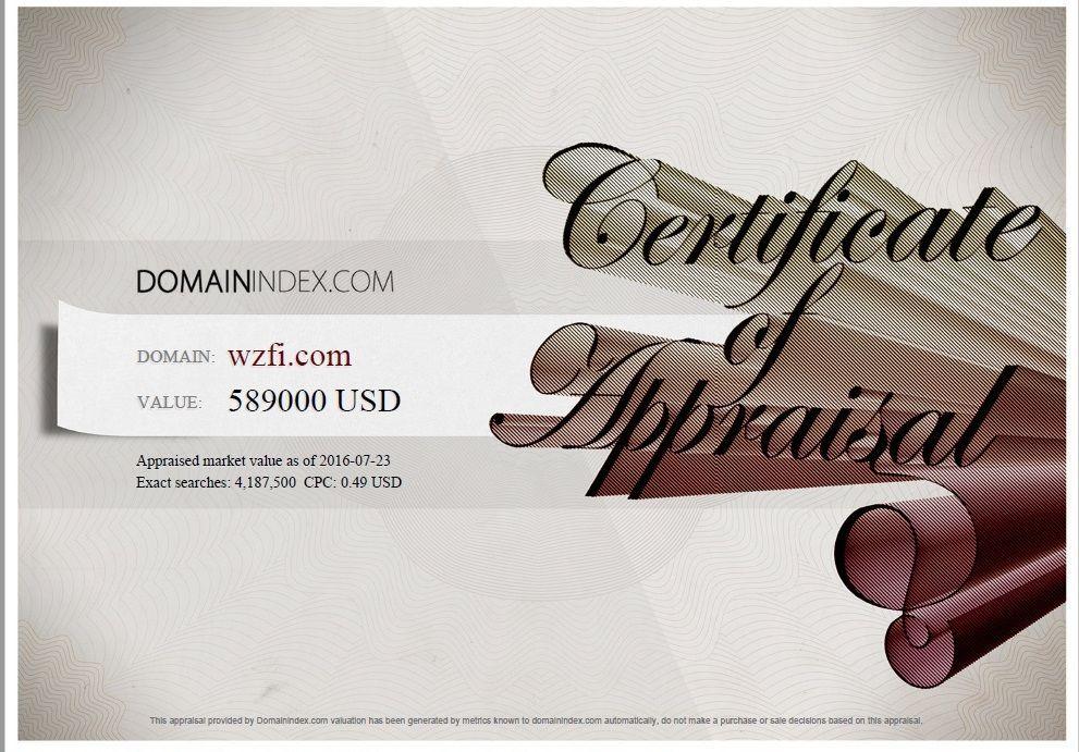 WZFI.com Appraisal